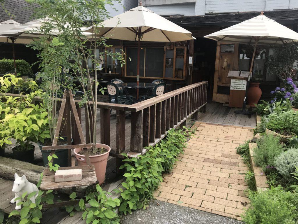 京都にあるバラ・クレマチス専門店【松尾園芸】喫茶店
